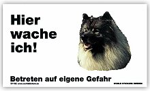 Schecker Warnschild Wolfsspitz Hier Wache ich!