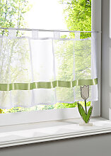Scheibengardine Elly, grün (H/B: 30/90 cm)