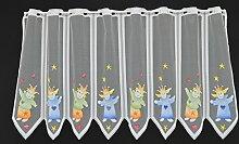 Scheibengardine für Kinder mit Kasperle 60 cm