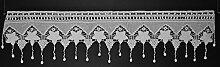 Scheibengardine geklöppelt | 32x125 cm H/B |
