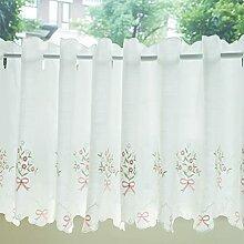 Scheibengardine kurzstore,Vorhänge für Weiß