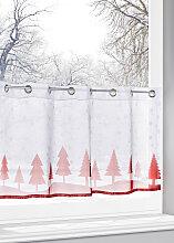 Scheibengardine Let it snow, weiß (H/B: 30/90 cm)