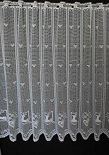 Scheibengardine mit Hirsch und Herz 90 cm hoch |