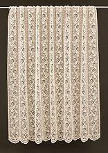 Scheibengardine mit klassischer Ranke 180 cm hoch