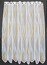 Scheibengardine mit Welle 110 cm hoch | Breite der