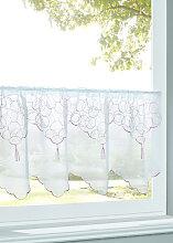 Scheibengardine Punit, weiß (H/B: 30/120 cm)