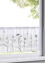 Scheibengardine Rabia, lila (H/B: 30/120 cm)