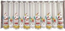 Scheibengardine, Santa Claus, VHG, Durchzuglöcher