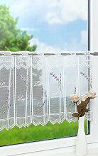 Scheibengardine  von LYSEL® - Lavendel  (Bx H)