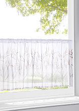 Scheibengardine Weizen, weiß (H/B: 30/90 cm)