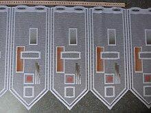 Scheibengardinenstoff Karo Muster in terra 45cm