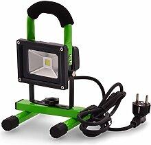 Scheinwerfer Lichtfluter LED 10W 240V 800Lumen Arbeitlampe Gartenleuchte Beleuchtung Außenleuchte tragbar für den Innen- und Außenbereich