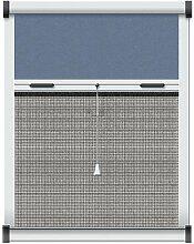 Schellenberg 50519 Insektenschutz- und Verdunkelungsrollo für Dachfenster 90 x 170 cm weiß / blau