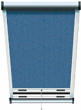 Schellenberg 50537 Insektenschutz-Rollo für Dachfenster 120 x 160 cm blau/eloxier