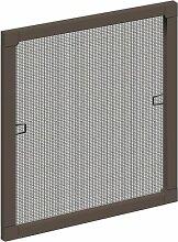 Schellenberg 50733 Insektenschutz-Fenster STANDARD, braun, 100 x 120 cm