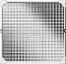 Schellenberg 50742 Insektenschutz-Fenster, REFLECTION Fliegengitter mit Magnetrahmen ohne bohren – 100 x 120 cm in Weiß