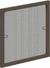 Schellenberg 50785 Insektenschutz-Fenster PLUS, braun, 100 x 120 cm
