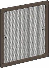 Schellenberg 50787 Insektenschutz-Fenster PLUS, braun, 120 x 150 cm
