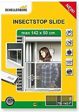 Schellenberg 50810 Insektenschutz Schiebe-Fenster Insectstop Slide für Fenster mit Rollläden, maximal 142 x 50 cm
