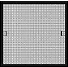 Schellenberg 70041 Insektenschutz-Fenster Premium, Fliegengitter mit Rahmen – 100 x 120 cm in anthrazit, 1 Stück