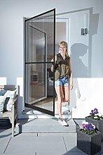 Schellenberg 70927 Insektenschutztür BASIC, Fliegengittertür für Balkontür und Terrassentür, braun, 100 x 210 cm