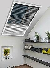 Schellenberg 70990 Insektenschutz-Plissee & Verdunkelung für Dachfenster – 114 x 160 cm in Weiß