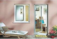 SCHELLENBERG Insektenschutz-Fenster Plus braun, individuell kürzbar 100 cm, links, Fenster, 120 cm, anthrazi