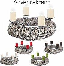 schenken-24 Adventskranz RUND/Holz/Durchmesser ca.