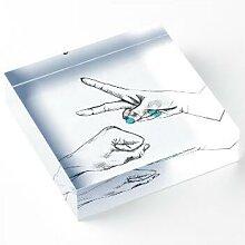 Schere, Stein, Papier Acrylblock