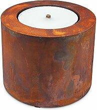 Scheulen Metall Zylinder Rost inkl. Flammschale Ø