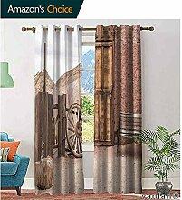 Scheunenholz Wagenrad Schlafzimmer-Vorhänge