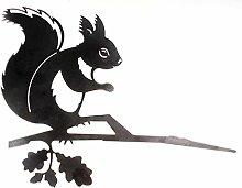 Schick-Design Glückstier Eichhörnchen aus Metall