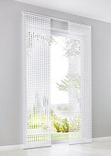 Schiebegardine 3D Effekt (1er-Pack), weiß (H/B: 250/57 cm)
