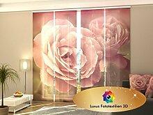 Schiebegardine 4-er Set Flächenvorhang in Luxus