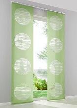 Schiebegardine Bern (1er-Pack), grün (H/B: 145/57 cm)