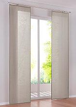 Schiebegardine Liam (1er-Pack), beige (H/B: 145/57 cm)