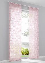 Schiebegardine Locke (1er-Pack), rosa (H/B: 145/57 cm)