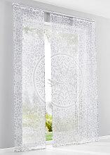 Schiebegardine Milton (3-tlg. Set), weiß (H/B: 145/57 cm)