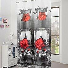 Schiebegardine Möbel Turm eiffeil mit Digitaldruck 3d und Nieten q462