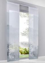 Schiebegardine Mona (1er-Pack), grau (H/B: 225/57 cm)