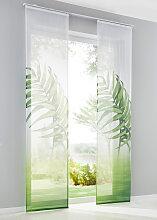Schiebegardine Natur (1er-Pack), grün (H/B: