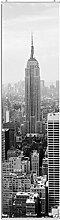 Schiebegardine New York schwarz-weiß Digitaldruck