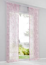 Schiebegardine Torina (1er-Pack), rosa (H/B: 145/57 cm)