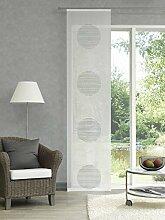 Schiebegardine transparent mit auffälligen Kreisen Farbe grau