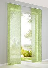Schiebegardine Vivien (1er-Pack), grün (H/B: 245/57 cm)
