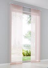 Schiebegardine Voile Uni, rosa (H/B: 145/57 cm)