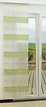 Schiebegardine von LYSEL® - Structure Stripes transparent mit Streifen in den Maßen 245 cm x 60 cm grün/hellgrün
