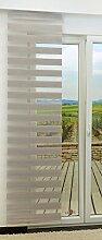 Schiebegardine von LYSEL® - Tag und Nacht variabel mit Streifen in den Maßen 245 cm x 60 cm beige/braunbeige