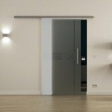 Schiebetür aus Glas für den Innenbereich /