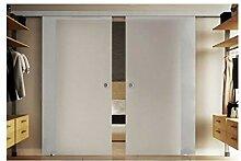 Schiebetür aus Glas mit zwei Scheiben 205x205 cm